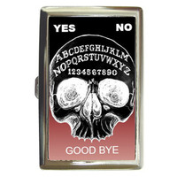 Ombre Ouija Skull case for money, cards, or cigarettes