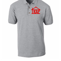 trap house embroidery hat - Polo Shirt