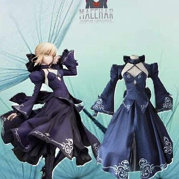 Alter black saber Arturia Pendragon cosplay costumes dress Japanese anime  Fate Zero Fate stay night clothing Halloween Macchar Cosplay Catalogue