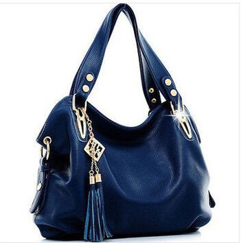 Guaranteed 100% Genuine Luxury Handbag Tote Leather Hobo Shoulder Bag Messenger Bags+6 Color