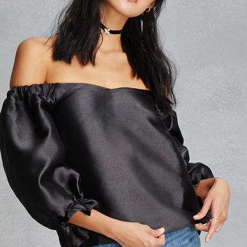 Ruffled Off-The Shoulder Top