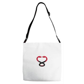 ONE IN TWO SNAKES Adjustable Strap Totes