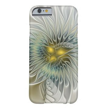 Golden Flower Fantasy, abstract Fractal Art Barely There iPhone 6 Case