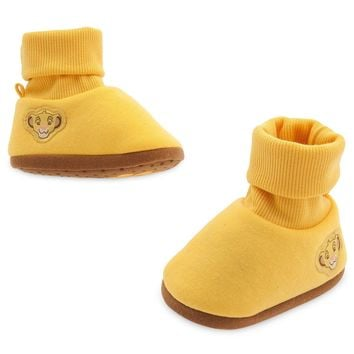Licensed cool Disney Store The Lion King Movie SIMBA Baby Costume Shoes Slippers 18-24M NWT