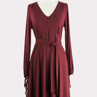 Avery Dress in Wine