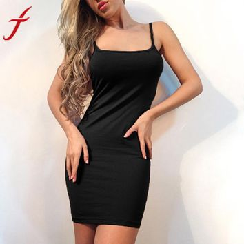 2017 Summer Dress Women Sexy Sheath Sleeveless Evening Party Dresses vestidos  Bodycon Formal Solid Mini Slim Dress