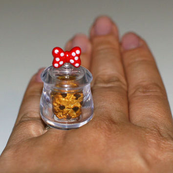 Kawaii Miniature Food Ring  Chocolate Chip by fingerfooddelight