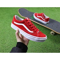 18ss ANKUANZ x Vans Vault Style 36 Casual Shoes Red White Plate Shoes - Sale