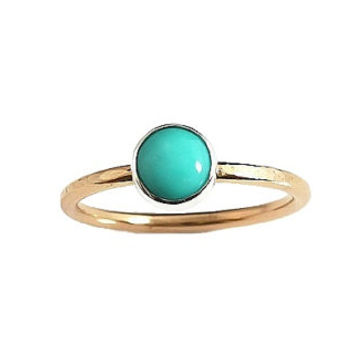 Mexican Turquoise Ring, Turquoise Ring, Turquoise Jewerly, Stacking Ring, Dainty Ring, Birthstone Jewelry, Minimalist Ring, Birthstone Ring