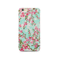 iPhone 7 Case Mint Floral iPhone 6 case  Samsung Galaxy S7 case galaxy S6 edge case Note 5 case İphone 6 Plus case LG G4 case Mint Floral