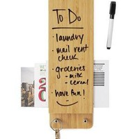BAMBOO ENTRY BUTLER | Butlers, Dry, Erase, Board, Organizer, Organize | UncommonGoods