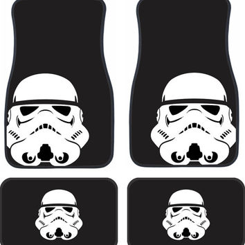 STORMTROOPER STAR WARS Full Set of 4 Floor Mats for your car!
