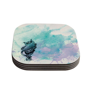 "Graham Curran ""Owl II"" Coasters (Set of 4)"