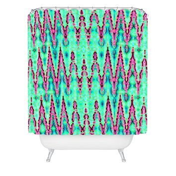 Ingrid Padilla Bohemian Romantic Blue Shower Curtain
