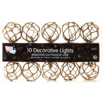 Clear Glass Jute Light Set | Hobby Lobby | 623801