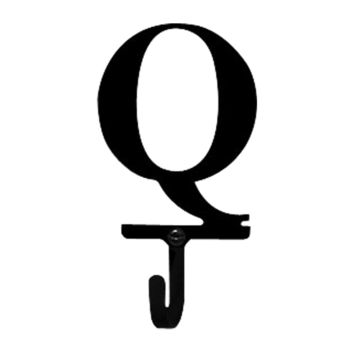 Wrought Iron Letter Q Wall Hook Small
