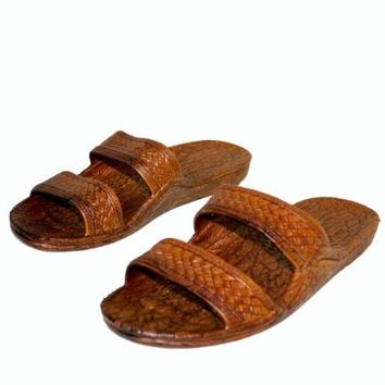 Brown Rubber Slide Sandal Slipper, Comfortable Slip On, Original Pali Hawaii Unisex Sandals (11)