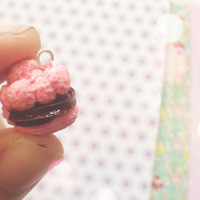 Miniature Squishy Inspired Cream Puff Polymer Clay Charm