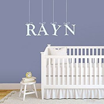 Wall Decal Vinyl Sticker Decals Art Decor Design Personalized Name Hanging Letters Sign Gift Kids Children Bedroom Nursery (r238)