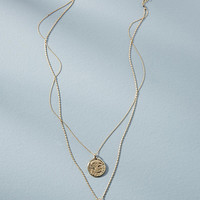 Double Coin Layered Necklace