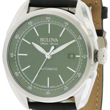 Bulova AccuSwiss Tellaro Leather Automatic Watch 63B188