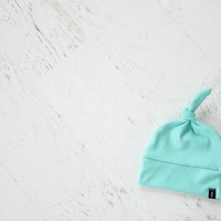 Knotted Hat in Seafoam