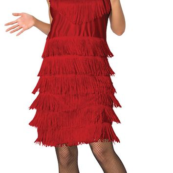Red Flapper Roaring 20's Costume for Women