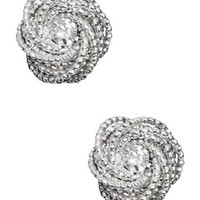Diamond Knot Button Earring | Shop Accessories at Wet Seal