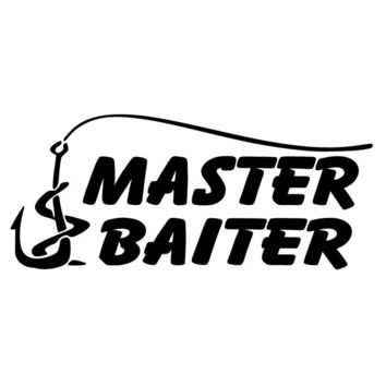 14.6cm*6.3cm Fishing Master Baiter Car Accessories Car Sticker S4-0565