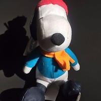 SNOOPY STUFFED DOG WITH HAT,SCARF,SKATES Whitman Sampler plush toy gift for her