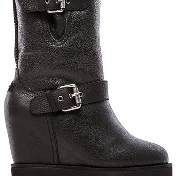 Australia Luxe Collective Machina Wedge Boot in Black