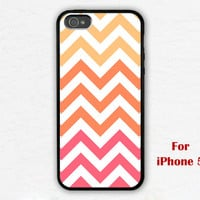 iPhone 5 Case, Chevron iphone 5 case, orange Chevron, geometric graphic iphone 5 case