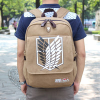 Attack On Titan Canvas Backpack