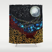 :: Veranda Moon :: Shower Curtain by :: GaleStorm Artworks ::