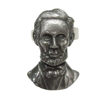 Abraham Lincoln Abe Adjustable Size Fashion Ring