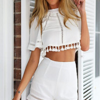 New 2 Piece Set Women Dress Tropical Brand Plus Size Women Clothing White Vestidos Short Backless Bodycon Dress Drop Shipping