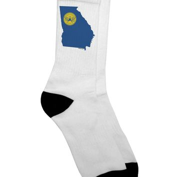 Atlanta Georgia Flag Adult Crew Socks
