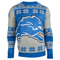 Detroit Lions Big Logo Ugly Crew Neck Sweater