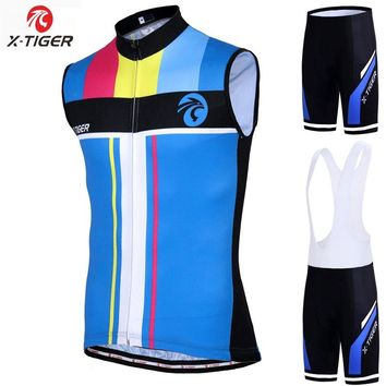 X-Tiger MTB Bike Clothes Cycling Vest Sleeveless Ropa Maillot Ciclismo Summer Cycling Jerseys Quick-dry Racing Bicycle Jersey