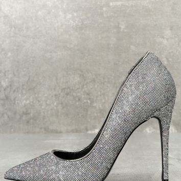Daisie Black Multi Glitter Pumps