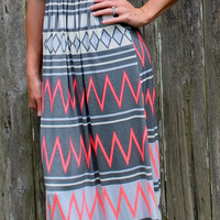 Chevron Printed Maxi Dress