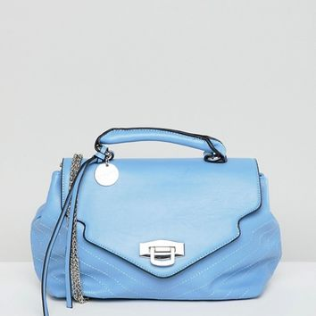 Sisley Chain Detail Blue Bag at asos.com