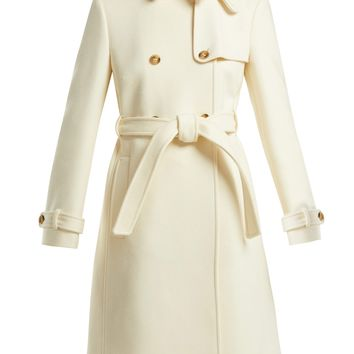 Double breasted belted wool coat | REDValentino | MATCHESFASHION.COM US