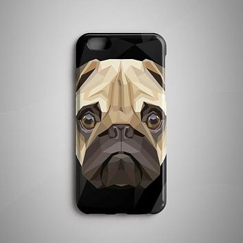 Geometric Pug iPhone 8 Case iPhone 8 Plus Case