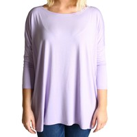 Lilac Piko 3/4 Sleeve Top
