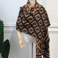 Perfect Fendi Women Wool Scarf Shawl Scarf