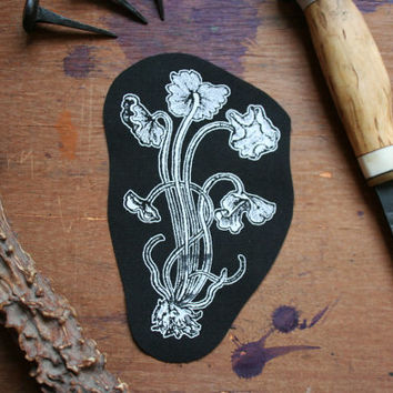 Mushroom patch - fungi patch, toadstool patch, cute patch, nu goth patch, dark mori, mori fashion, forest accessories, woodland style, wicca