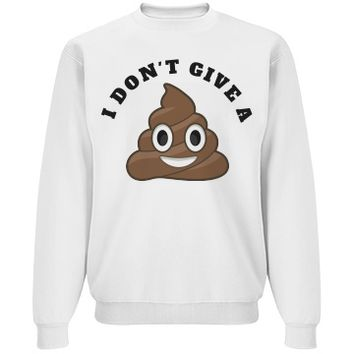 don't give a shit emoji sweater