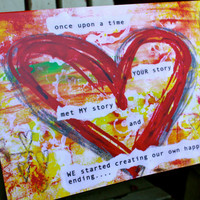"""Once Upon A Time 5""""x7"""" Blank Valentine Card with Envelope, Wedding Card, Anniversary Card, Love, Wholesale Greeting Cards, Stationary"""