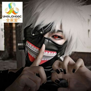 DCK9M2 High Quality Clearance Tokyo Ghoul 2 Kaneki Ken Mask Adjustable Zipper Masks PU Leather Cool Mask Blinder Anime Cosplay